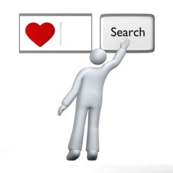 Looking for love, human searching for love with heart using abstract search engine